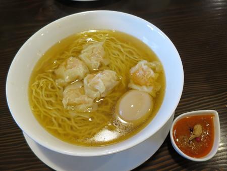 龍馬軒 海老雲呑麺(限定30食)味玉トッピング¥950