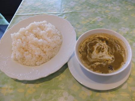 Asian Kitchen Ashmita(プレオープン期間中) アジアンランチ グリーンカレー(スーパーベリーホット)&ライス