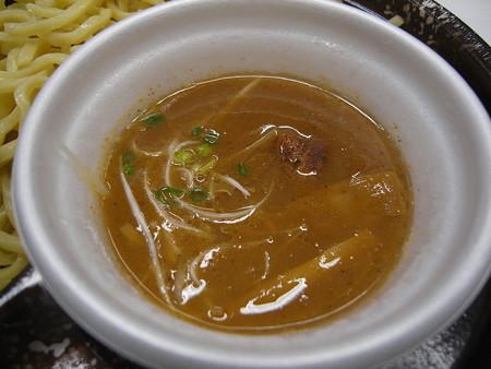 ローソン 濃厚魚介豚骨スープのつけ麺(ひやあつ) スープアップ