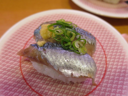 かっぱ寿司 上越店 さんま¥108