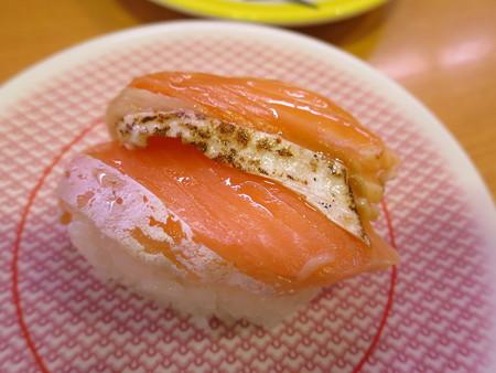 かっぱ寿司 上越店 サーモン合盛り(とろサーモン&焼サーモン)¥108