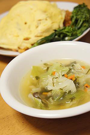 セロリとキャベツのスープ