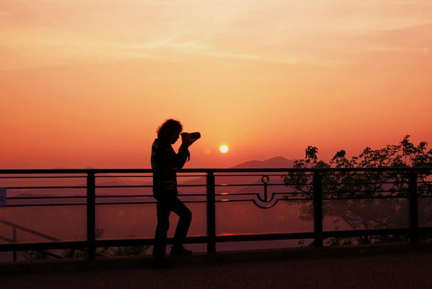 夕暮れのカメラマン♪