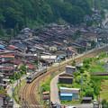 Photos: 奈良井駅俯瞰 211系