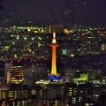 京都タワーオレンジライトアップ