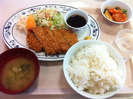 20111110 札幌市建設局下水道庁舎食堂 とんかつ定食