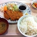 写真: 20111110 札幌市建設局下水道庁舎食堂 とんかつ定食