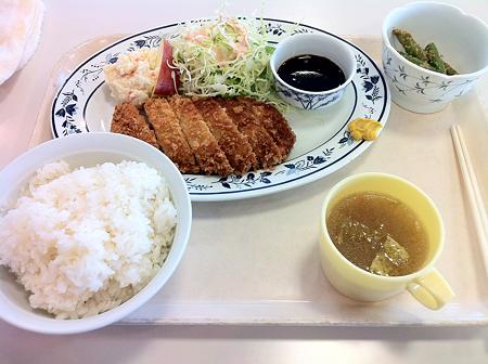 札幌市建設局下水道庁舎食堂 とんかつ定食