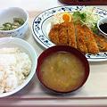 写真: 札幌市建設部下水道庁舎食堂 とんかつ定食