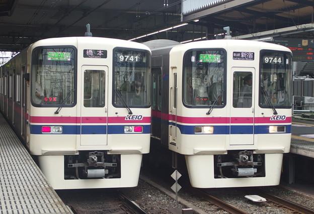 京王線桜上水駅 区間急行の離合