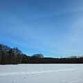 The Blue Sky and the White Snow