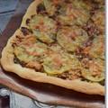 写真: ジャガイモと明太子と大葉味噌のピザ