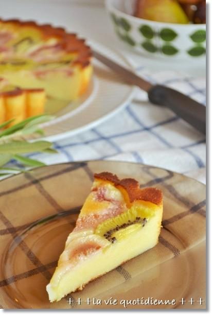 無花果とキウイのヨーグルトケーキ@BP