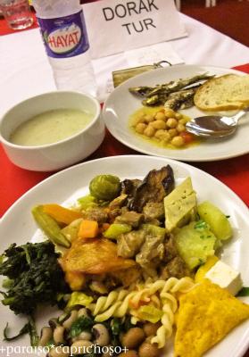 トルコ旅行の夕ご飯