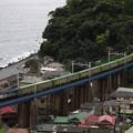 """Photos: 大幅遅れの""""福山エクスプレス""""を石橋山から撮影"""