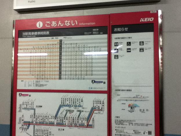 京王線分倍河原駅の案内板(2)