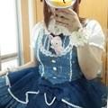 Photos: 今日のお出かけで着た服。メタモのマーメイドプリンセスペプラムJSKコーデヽ(・∀・)ノ デザインがとっても可愛いしプリントもとってもいい感じ(*´ω`*)