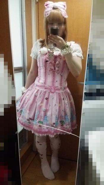今日のお出かけで着た服。メタモのおめかしラビットシリーズのコーデヽ(・∀・)ノ おめかしラビット大好き♪ヽ(´▽`)/