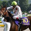 写真: ミッキークイーン  ウイニングラン_4(第76回 優駿牝馬)