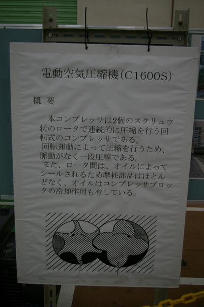 電動空気圧縮機C1600S解説 東京総合車両センター