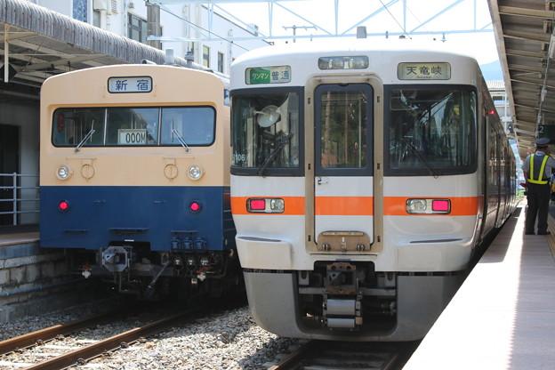 クモユニ143-1(新宿表示)・飯田線313系3000番台 R106編成