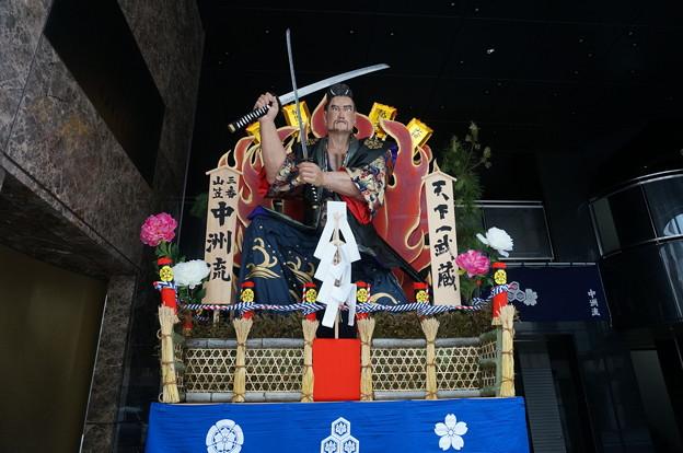 2015年 博多祇園山笠 追い山 舁き山笠 天下一武蔵(てんかいちむさし) (4)