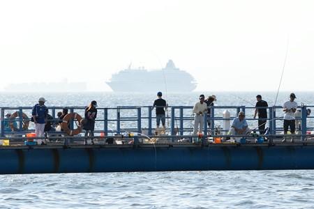 横浜港に向かう飛鳥II