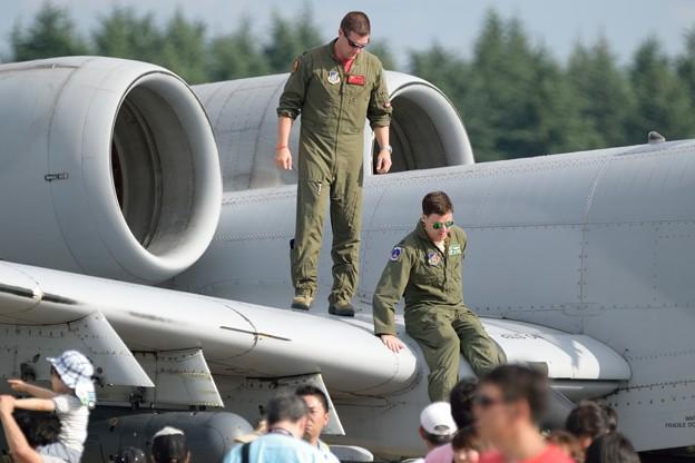 A-10の翼にて