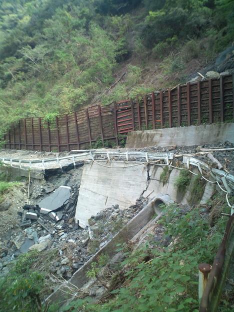 台風12・15による道路の変形 #十津川