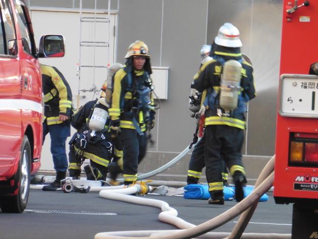 消防隊訓練風景  2