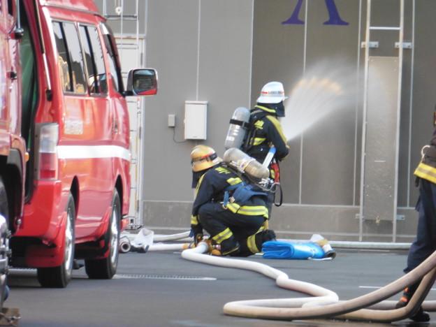消防隊訓練風景  3