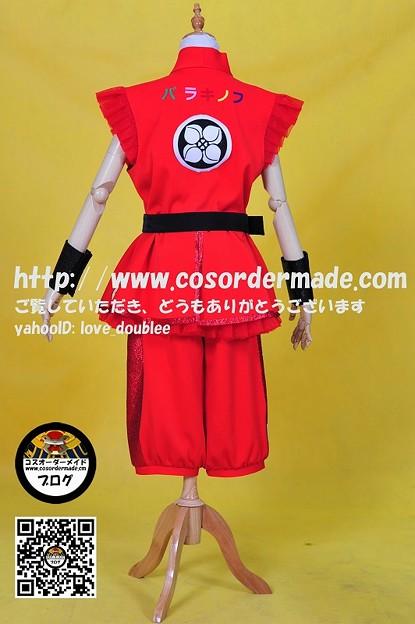ももいろクローバーZ 男祭り2012道着 赤 (5)