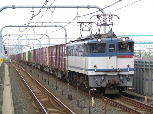 EF65 2092 赤ナンバー更新色 @武蔵野線 越谷レイクタウン