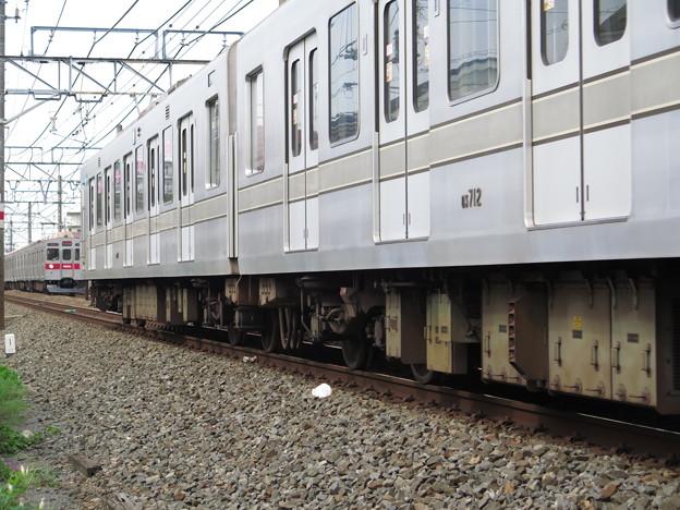 被られた・・・。 @東武鉄道伊勢崎線 大袋~せんげん台