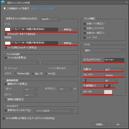 複数ファイルをバッチ処理2