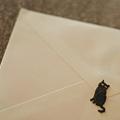 写真: 猫シールのお手紙