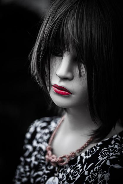 写真: 美人のマネキン?@鴻巣