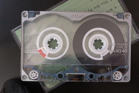 2011.11.14 机 カセットテープ TDK MA-XG (METAL)