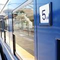 DL碓氷号青い12系客車 安中3番間もなく発車