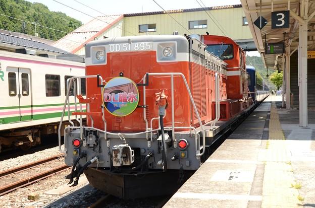 DD51 895牽引DL碓氷号横川3番到着
