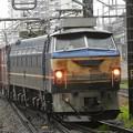 Photos: ニーナさん泥まみれ(>_<)  EF66 27牽引高速貨物3085レ宇都宮6番通過!