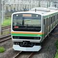 Photos: 宇都宮貨物(タ)を通過するE231系横コツK-26編成1599E