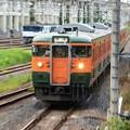 Photos: 宇都宮貨物(タ)を通過する115系両毛線経由高崎行き472M