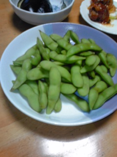 庭の枝豆 今年も育てました。