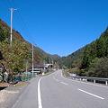 写真: 国道152号線上村