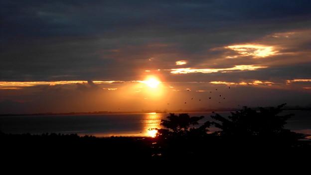 海峡の朝景