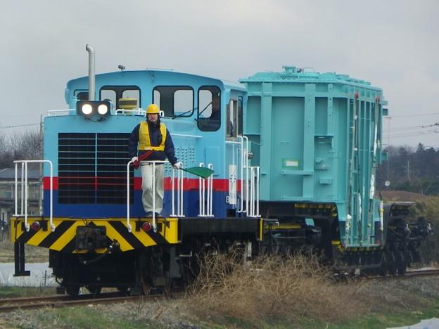 高岳1号機関車+シキ180(変圧器積載)