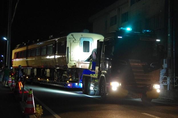 485系新潟車T18編成 クハ481-1508 新潟市新津鉄道資料館展示に伴う陸送