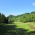 写真: 足利城ゴルフ倶楽部1番ホールコース画像?