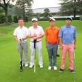 写真: 第10回足利城ゴルフ倶楽部ファミリーイベントスタート前にやまだくんと澁さん春三さん親さん